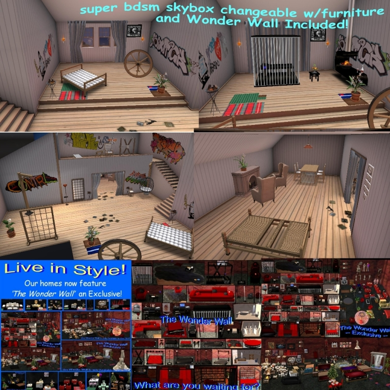 super bdsm skybox changeable wfurniture & Wonder Wall Included