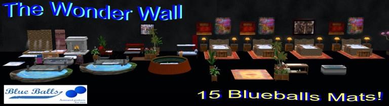 The Wonder Wall Blue Ball Mats